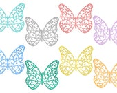 8 Clipart Butterflies // Digital Butterfly // Rainbow // Digital Art // Graphic Images // Garden Clipart // PNG file // Instant Dowload
