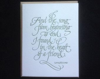 Friendship Greeting Card (Letterpressed)