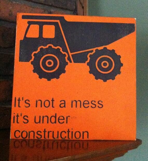 Items similar to dump truck sign kids decor boys room for Boys construction bedroom ideas