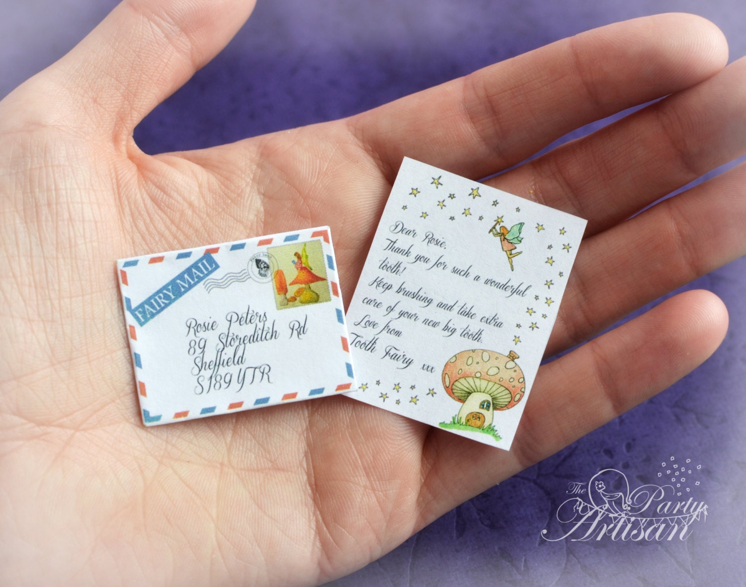 INSTANT EDITABLE Tiny Tooth Fairy letter AND certificate