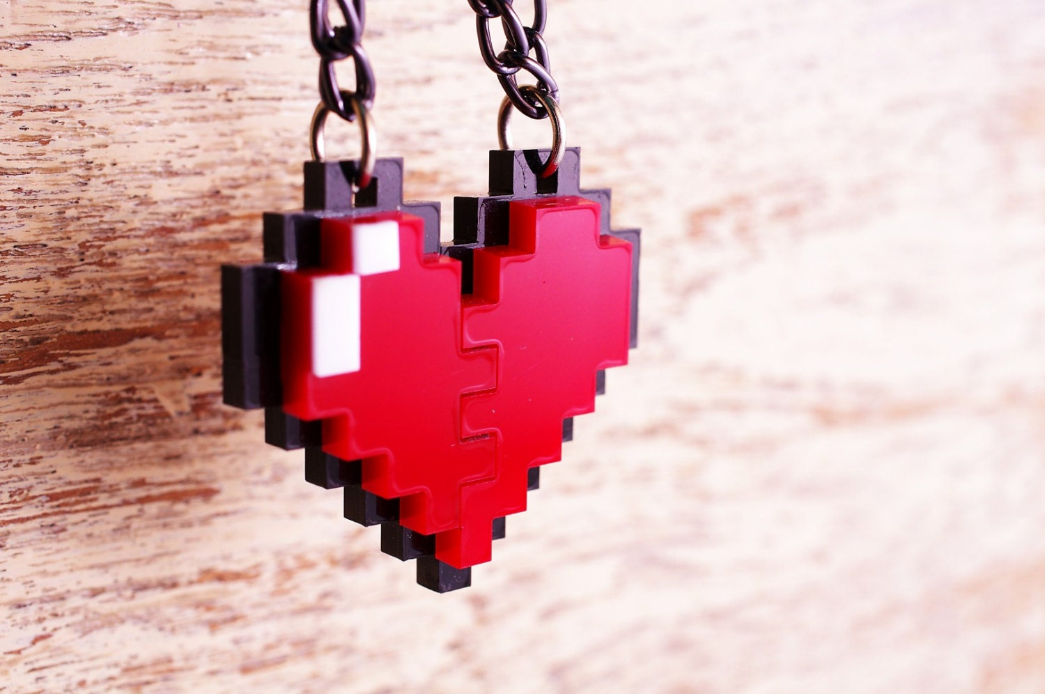 8 bit heart wallpaper  castl3t0n  Spoonflower