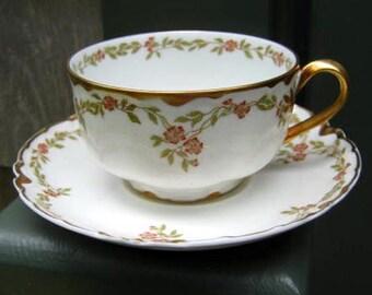 Half Price Haviland Sale, Antique Haviland Limoges Cup and Saucer,  Schleiger 523, Wedding Gift, Tea Party, France, Cottage Style, France, R