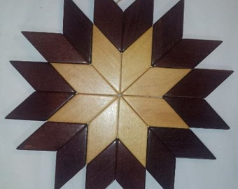 Wooden Snowflake - Made in Western Germany