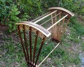 Quilt Rack, Afghan rack, Quilt Stand, Curly Maple, Walnut, Hand Crafted, Original Design, Southwest, Contemporary