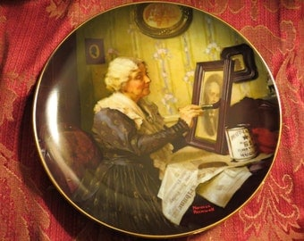 Golden Moments Plate of 'Grandma's Love' by Norman Rockwell