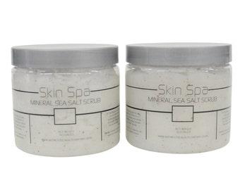 "Skin Spa Dead Sea Salt Scrub ""Duo"" Set - 16oz"