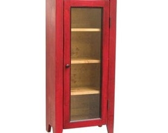 jelly cabinet kitchen cupboard one door cabinet red hutch
