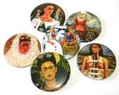 Frida Kahlo - Set of 6 Large Fridge Magnets