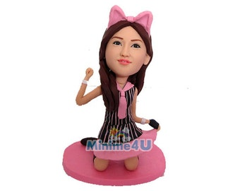 catwoman handmade gift  - personalized custom figurine  (Free Shipping Worldwide)