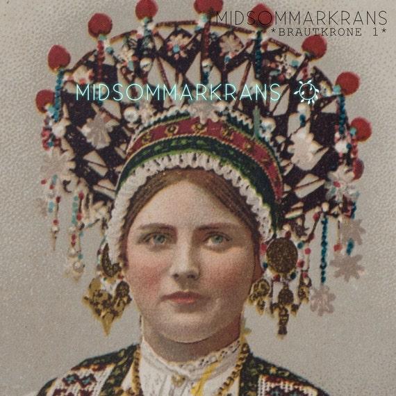 Norwegian Wedding Traditions: Antique Vintage Scandinavian Wedding Photo Postcard Costume