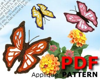 Crochet | Crochet pattern | Applique pattern | Crochet BUTTERFLY