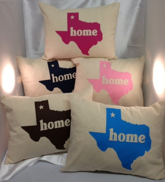 Items similar to Texas home throw pillow decor lone star state Texan pride on Etsy