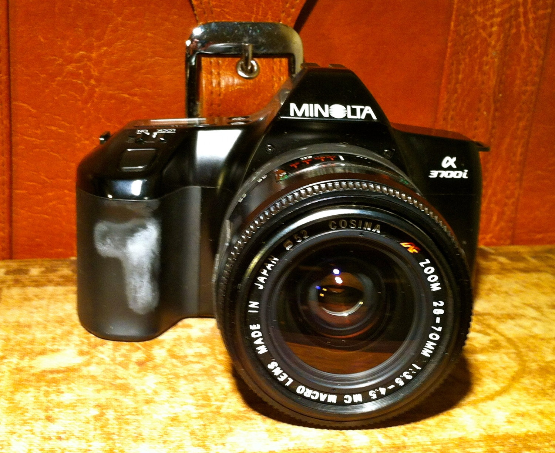 Vintage Minolta Alpha 3700i Camera with Lens