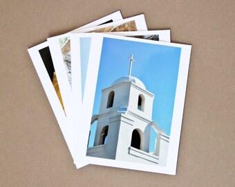 Set of 4 Blank Photo Note Cards: SONORAN DESERT, ARIZONA