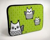 Owl - Laptop Case - Laptop Bag - Laptop Sleeve
