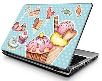 Muffin (blue) - Laptop Decals - Laptop Skins - Laptop Stickers - Laptop Vinyl