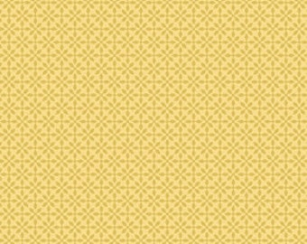 Jenean Morrison silent cinema front row yellow 0,5 m pure cotton fabric