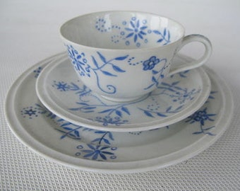 ROSENTHAL Selb Germany WINIFRED. Mocha porcelain (3-piece). About 1930s. Hand painted, signed. Collectors item. Vintage