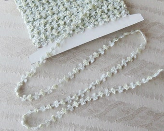 Silk Ribbon Rosette Trim from France - New - Buds and Bows