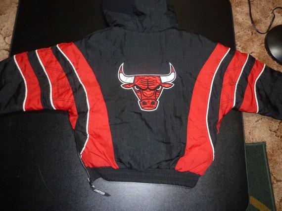 vtg chicago bulls starter nba pullover by vintagesportsstuff. Black Bedroom Furniture Sets. Home Design Ideas