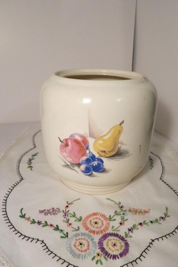 Knowles Vintage Utility Ware Ceramic Cookie Jar Vase Bowl With