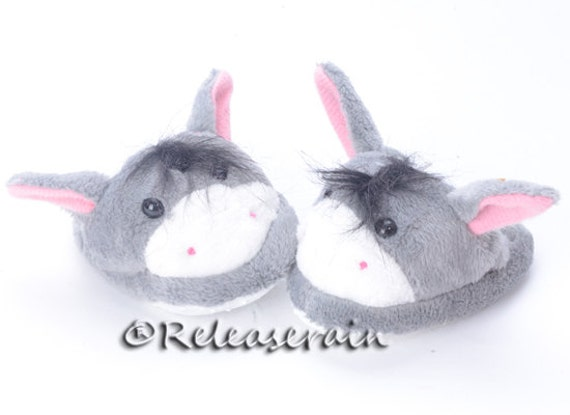 "Releaserain Animal Plush Doll Slippers Shoes Donkey for 18"" American Girl dolls"