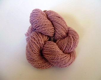 Pink Merino handspun 2 ply yarn