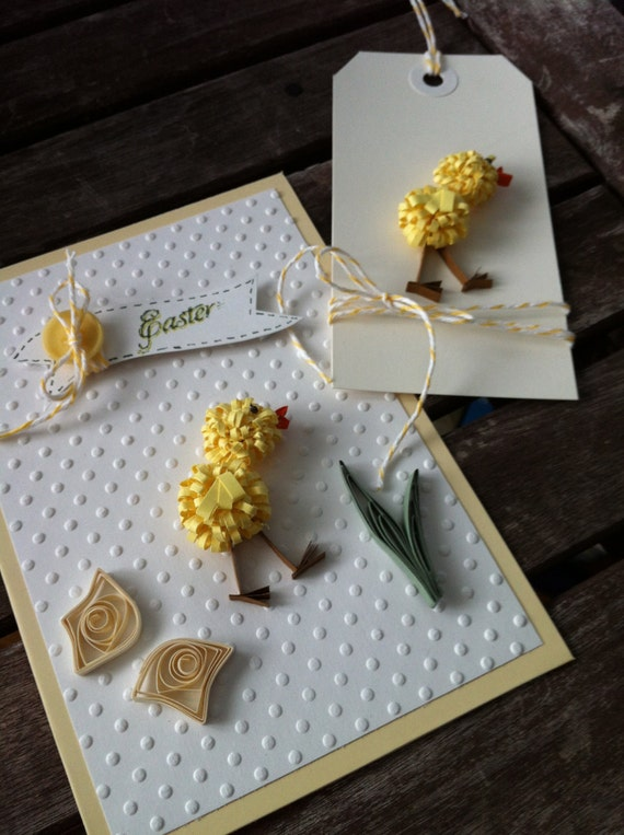 Easter Chick Card and Tag Duo