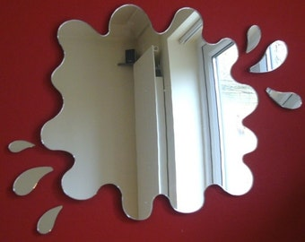 Puddle Mirror with Six Splash Mirrors - 5 Sizes Available