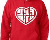 Girls' Generation SNSD Heart Logo Hoodie Hooded Sweatshirt