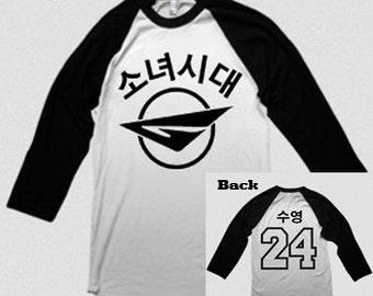 "SNSD Girls' Generation Sooyoung ""Air GG"" Raglan Baseball Style Shirt"