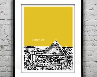 Memphis Tennessee Poster Art Print City Skyline Version 1 TN