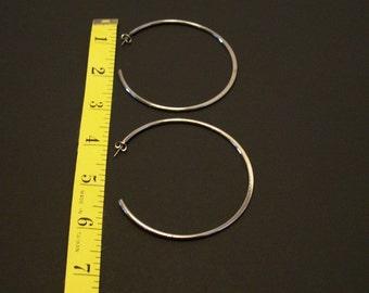 Large silvertone Hoop earrings