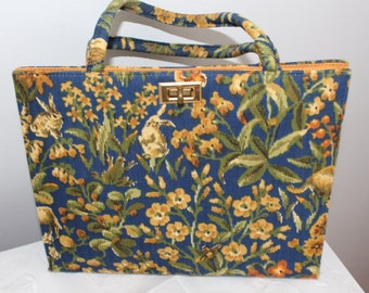 Margaret Smith Purse - Navy Floral