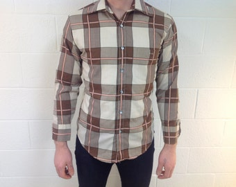 "L/S Brown & Pink Plaid by ""Second Avenue by Mack"" - Medium"