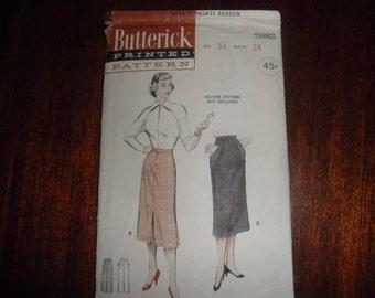 3 or 4 Gore Vintage Skirt Pattern
