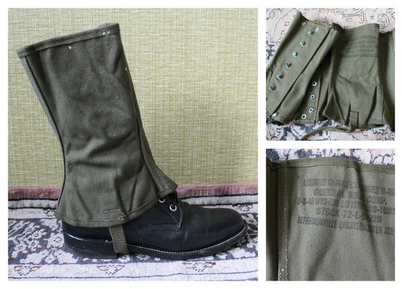 Vtg 1938 U.S. Military Gaiters / Small