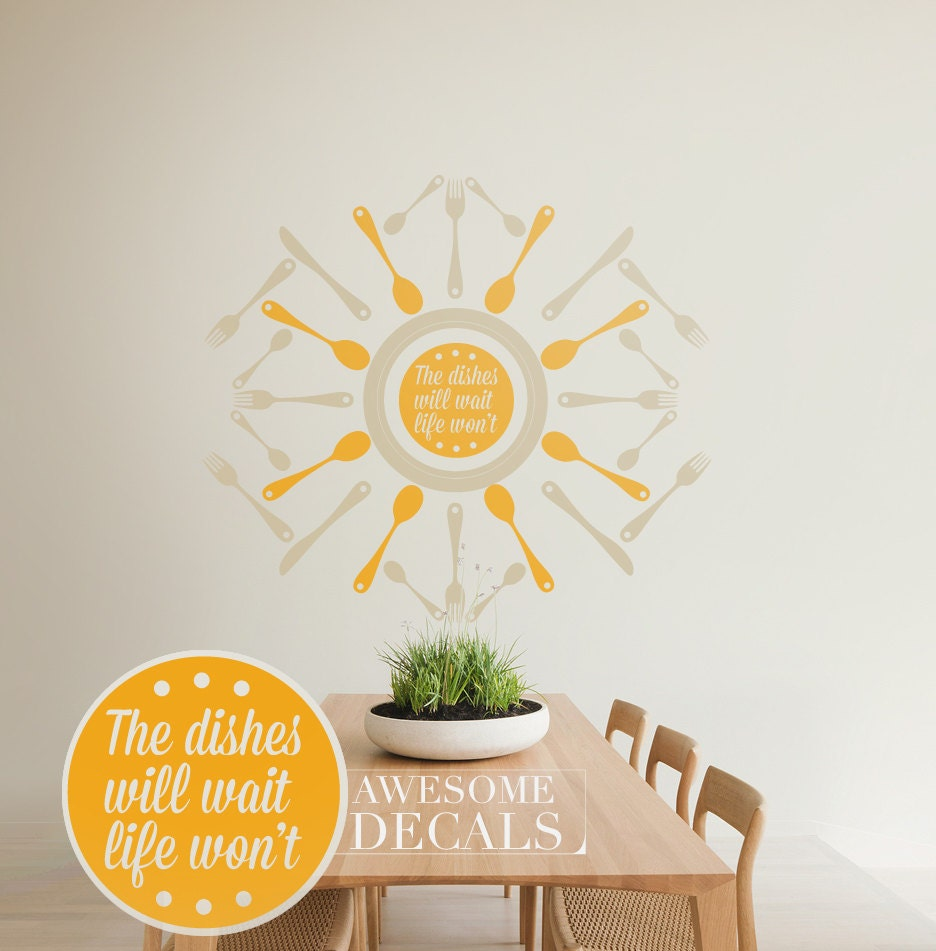 Diy Kitchen Wall Art Items Similar To Coffee Wares Circle Border Lettering Diy Modern