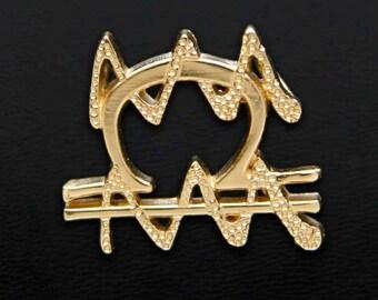 62 Libra and Aquarius Gold Unity Pendant
