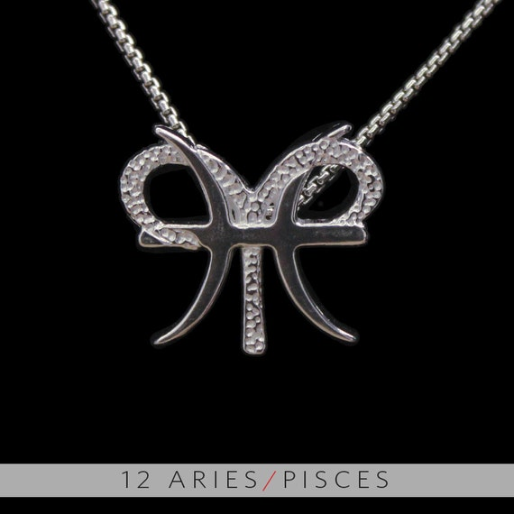 12 aries and pisces silver unity pendant for Aries and libra tattoo
