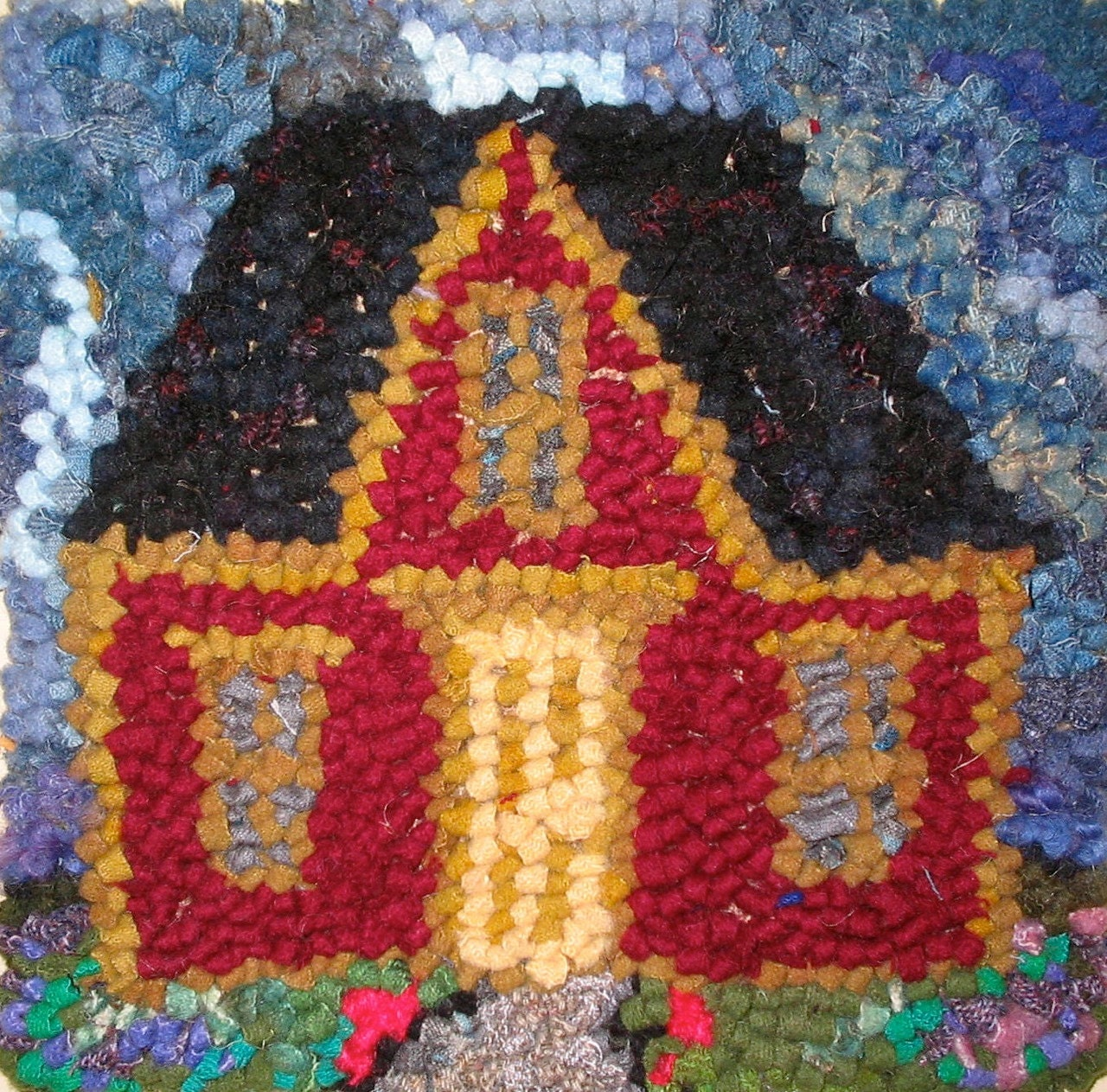 Rug Hooking Kit: Pitched Roof House 11 By 11