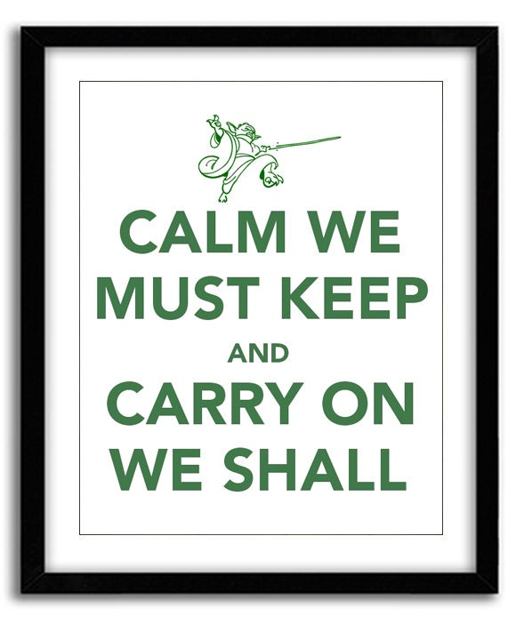 Star Wars Keep Calm Print Yoda Calm We