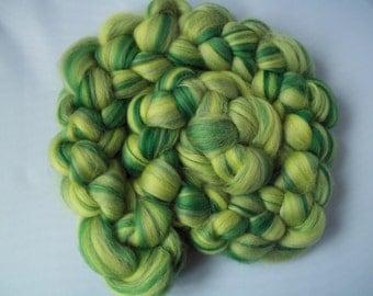 Green Spinning Fiber-  23 micron Merino wool 100g / 3.5oz-' PICKERING'