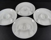 Vintage California Pottery Cocktail Shrimp or Hors d'Oeuvres Plates
