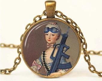 Steampunk Marie Antoinette Pendant Marie Antoinette Altered Art Pendant Marie Antoinette Jewelry