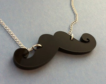 Poirot Moustache Necklace