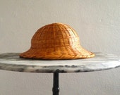 Antique Wicker Beekeeper's Hat/Pith - CassAndMerlune