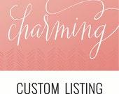 Custom Listing for arachuig