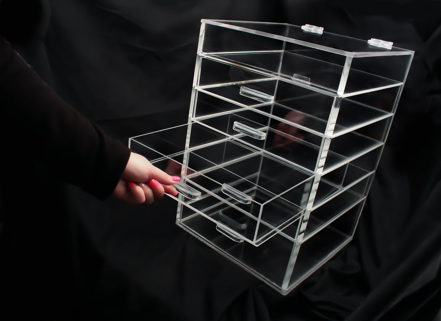 Clear Acrylic Makeup Organizer 5 6 or 7 Drawer by ...