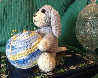 Puppy Pincushion, Gray, Style 1